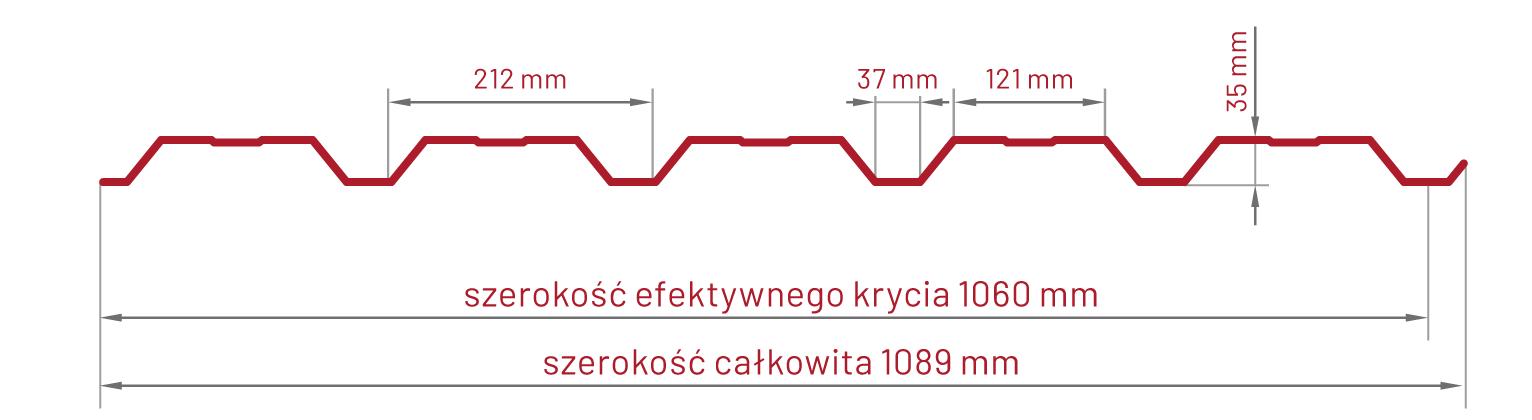 Blacha trapezowa T-35 profil elewacyjny