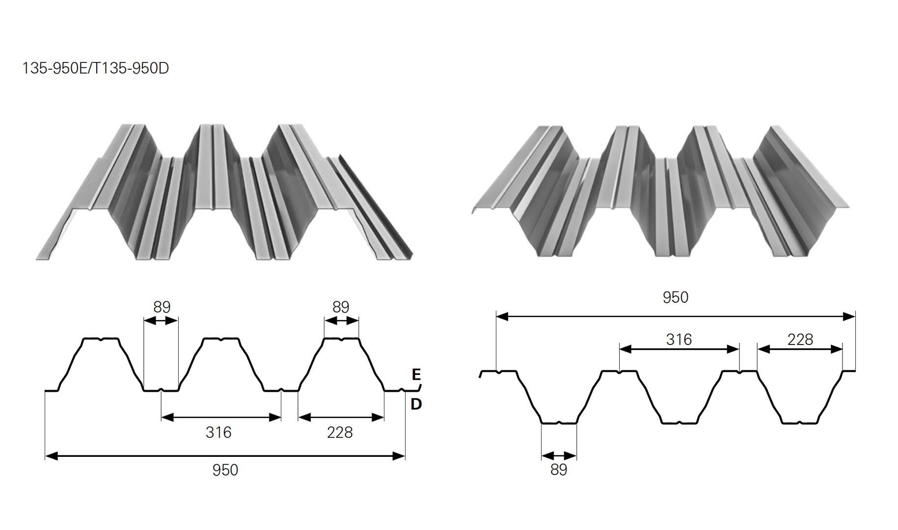 blacha trapezowa t135 specyfikacja