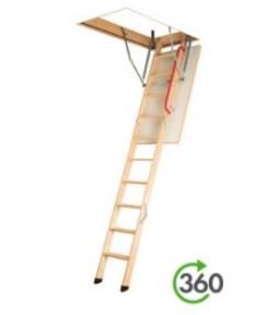 schody z drewnianą drabinką LWK Plus