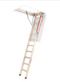 schody z drewnianą drabinką LWZ Plus