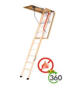 schody z drewnianą drabinką LWF 45